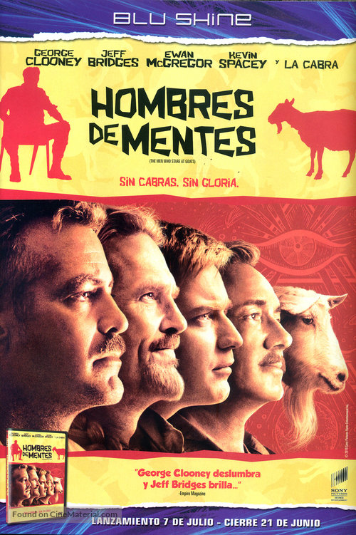 The Men Who Stare at Goats - Argentinian DVD movie cover