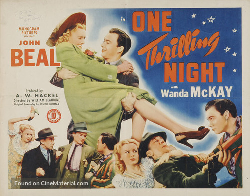 One Thrilling Night - Movie Poster