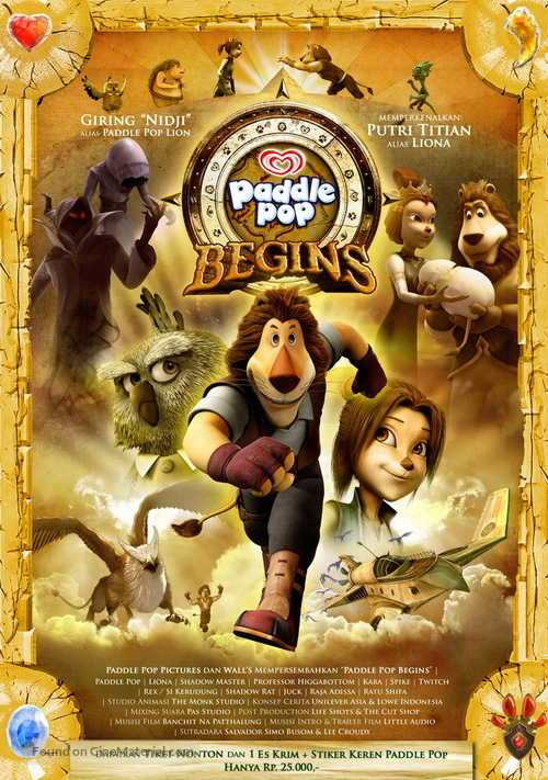 """""""Paddle Pop Adventures"""" - Indonesian DVD movie cover"""
