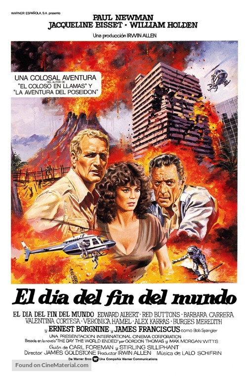 When Time Ran Out... - Spanish Movie Poster