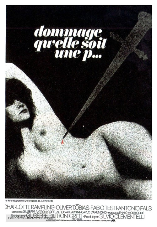 Addio, fratello crudele - French Movie Poster
