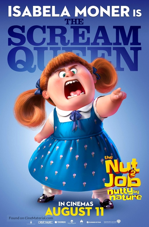 the nut job 2 british movie poster