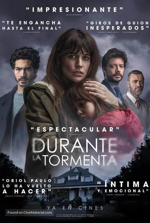 Durante la tormenta - Spanish Movie Poster