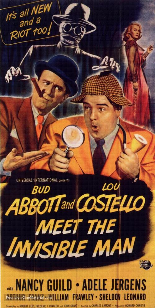 Abbott and Costello Meet the Invisible Man - Movie Poster