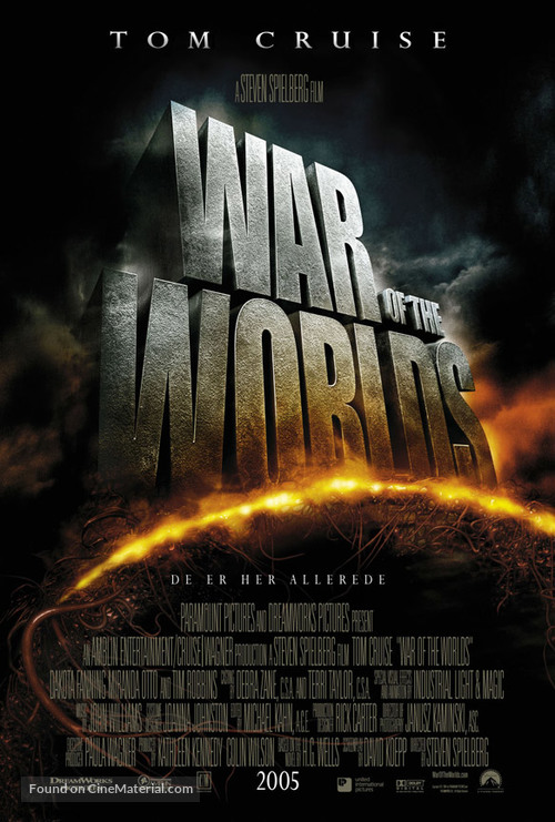 War of the Worlds - Danish Movie Poster
