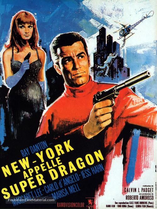 New York chiama Superdrago - French Movie Poster