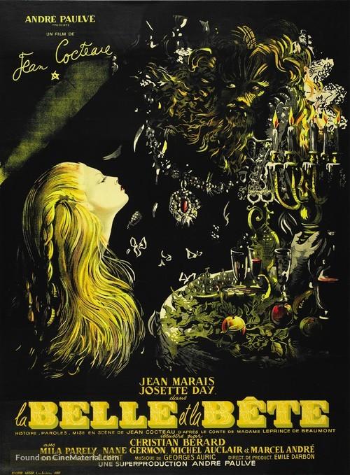 La belle et la bête - French Theatrical movie poster