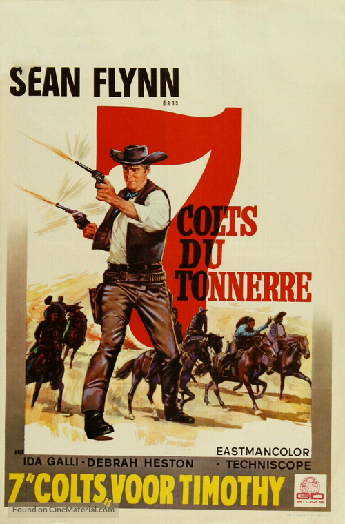 7 magnifiche pistole - Belgian Movie Poster