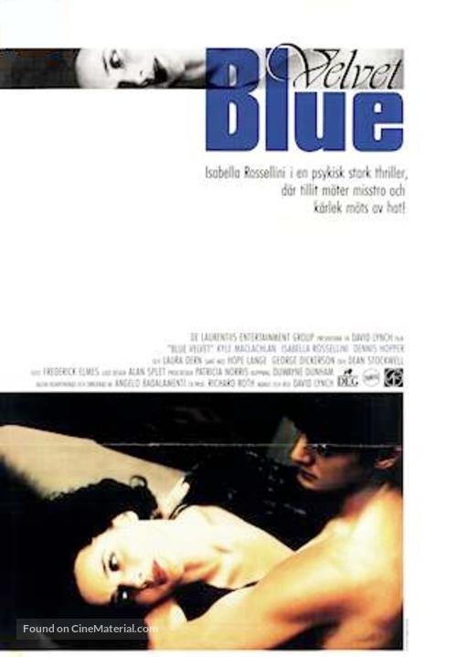 blue velvet swedish movie poster