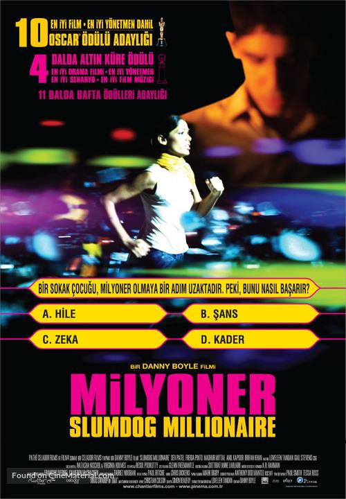 Slumdog Millionaire 2008 Turkish Movie Poster