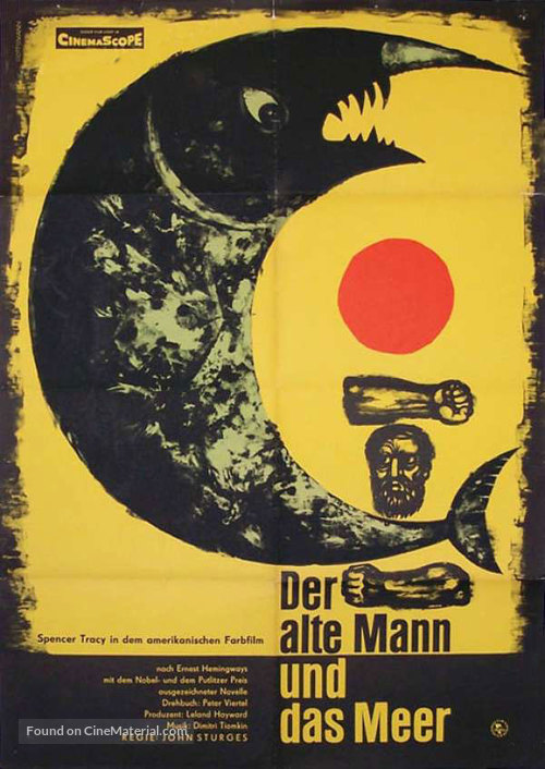 The Old Man and the Sea - German Movie Poster