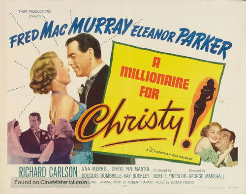 A Millionaire for Christy - Movie Poster