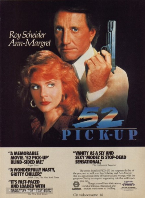 52 Pick-Up - Movie Poster