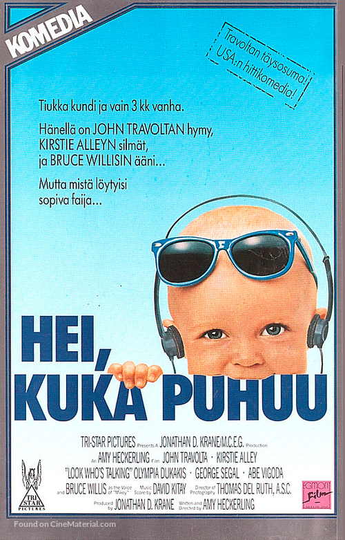 Look Who's Talking - Finnish VHS movie cover