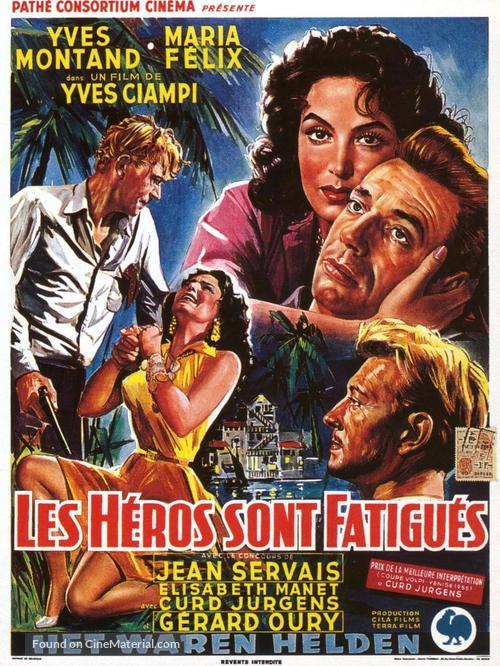 Les héros sont fatigués - Belgian Movie Poster