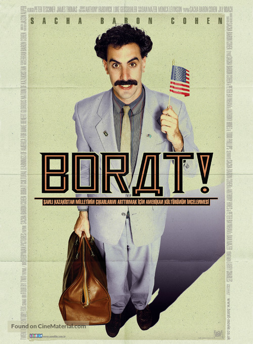 Borat: Cultural Learnings of America for Make Benefit Glorious Nation of Kazakhstan - Turkish Movie Poster