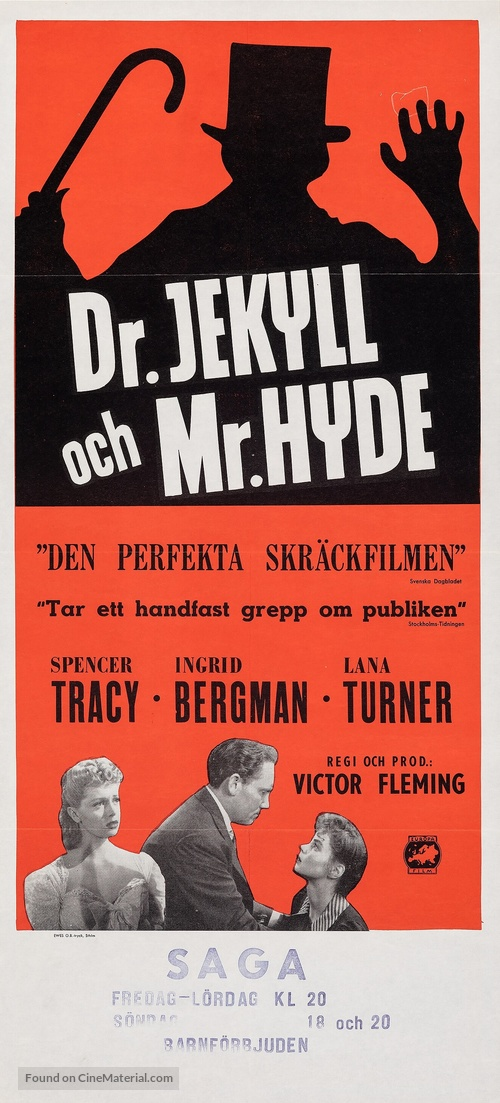 Dr. Jekyll and Mr. Hyde - Swedish Movie Poster