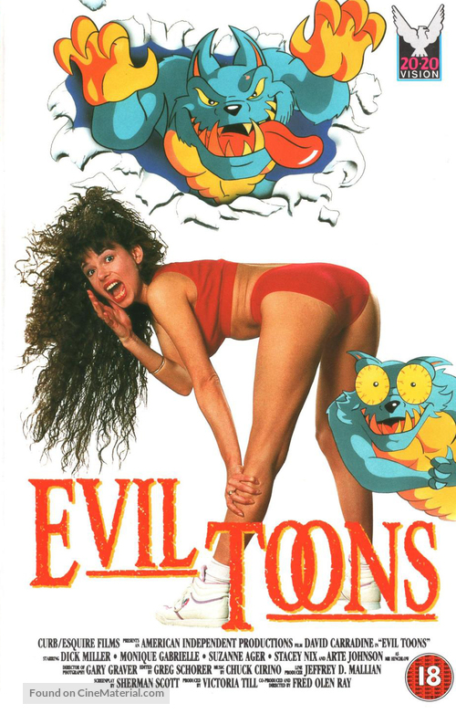 Evil Toons 1992 British Vhs Movie Cover