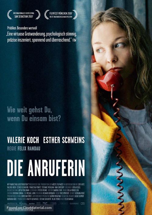 Anruferin, Die - German Movie Poster