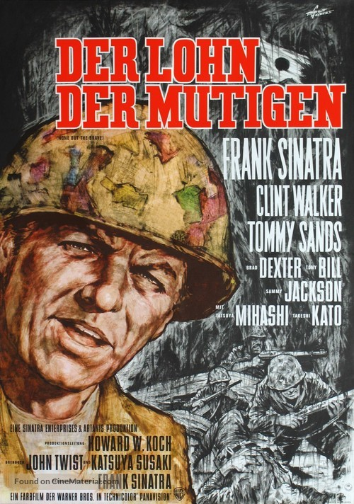 None But the Brave - German Movie Poster