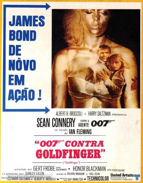 Goldfinger - Brazilian Movie Poster