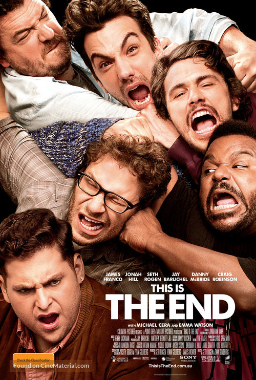 This Is the End - Australian Movie Poster