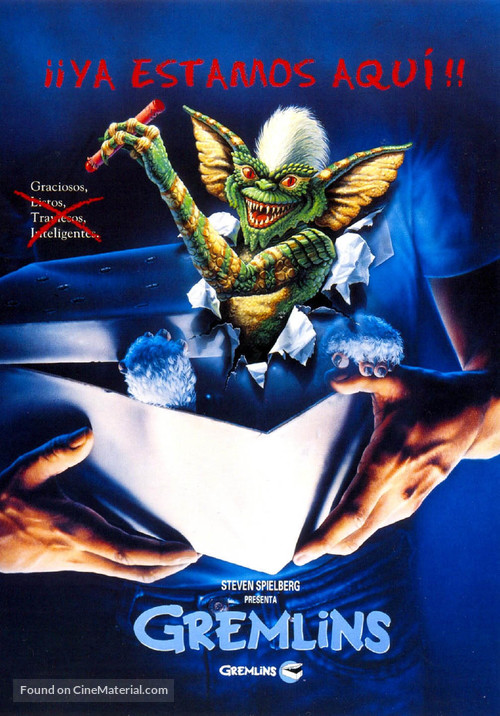 Gremlins - Spanish Movie Cover