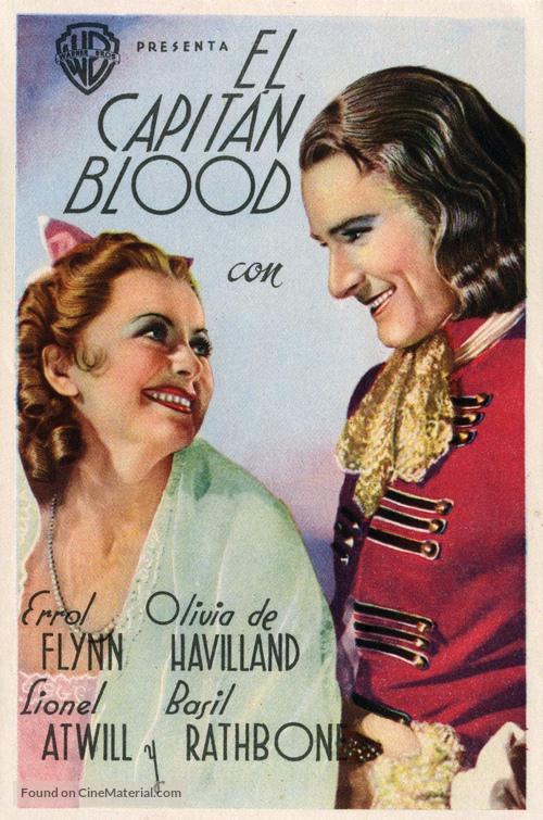 Captain Blood - Spanish Movie Poster
