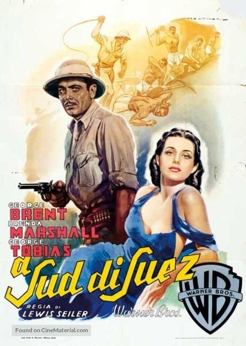 South of Suez - Italian Movie Poster