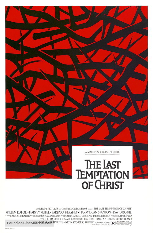 The Last Temptation of Christ - Movie Poster
