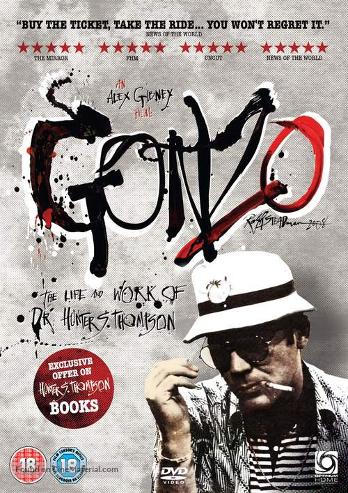 Gonzo: The Life and Work of Dr. Hunter S. Thompson - British DVD movie cover