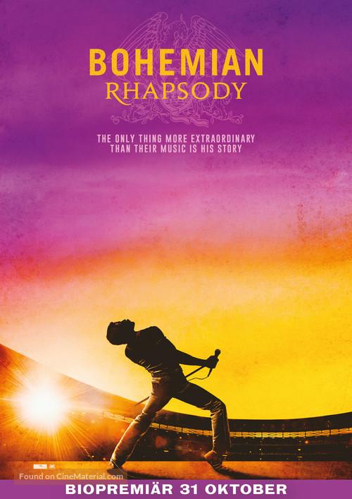 Bohemian Rhapsody - Swedish Movie Poster