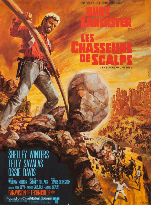 The Scalphunters - French Movie Poster