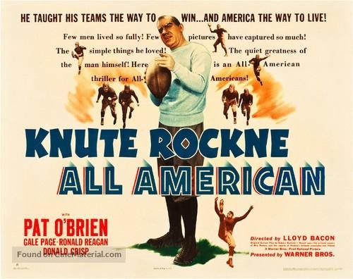 Knute Rockne All American - Movie Poster