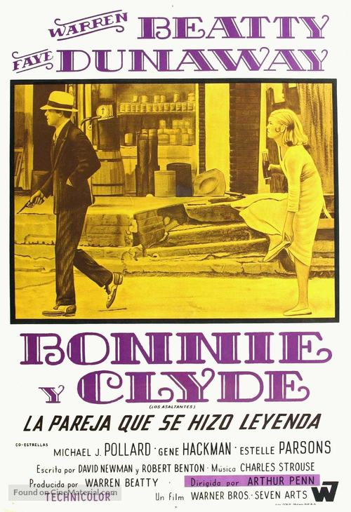 Bonnie and Clyde - Argentinian Movie Poster