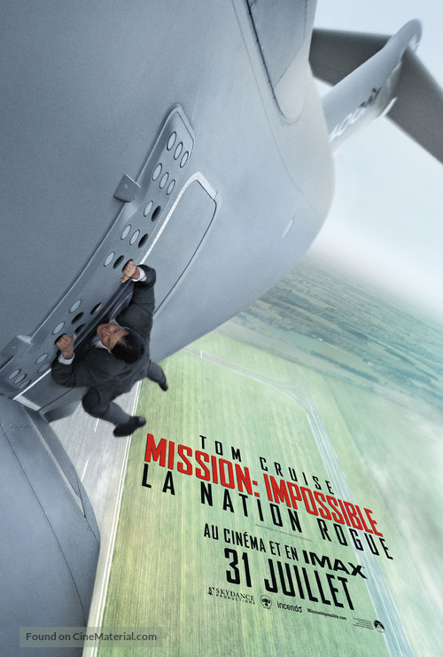 Mission: Impossible - Rogue Nation - Canadian Movie Poster