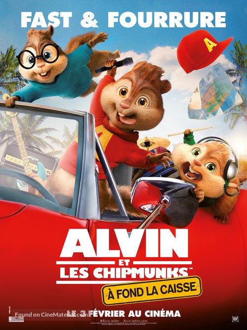 Alvin and the Chipmunks: The Road Chip - French Movie Poster