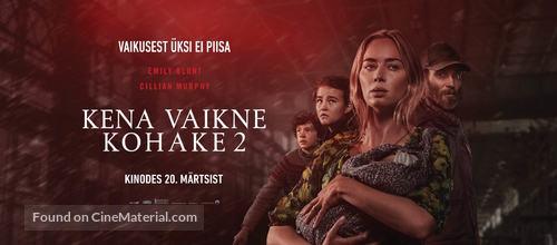 A Quiet Place: Part II - Estonian Movie Poster