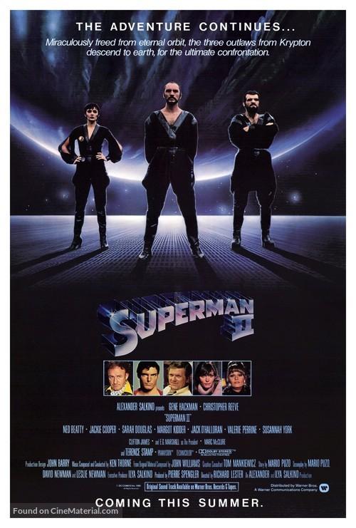 Superman II - Movie Poster