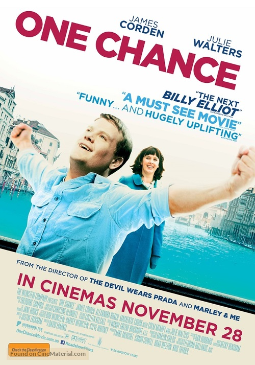 One Chance - Australian Movie Poster