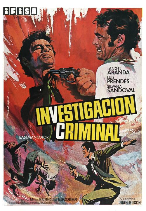 Investigación criminal - Spanish Movie Poster