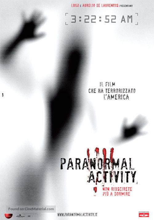 Paranormal Activity - Italian Movie Poster