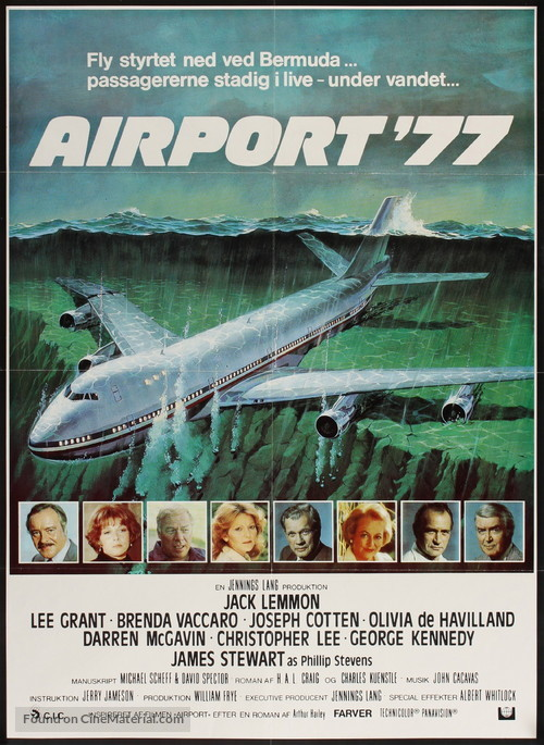 Airport '77 - Danish Movie Poster