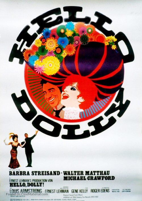 Hello, Dolly! - German Movie Poster