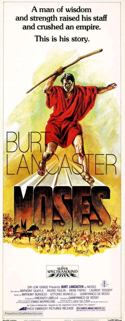 """Moses the Lawgiver"" - Movie Poster"