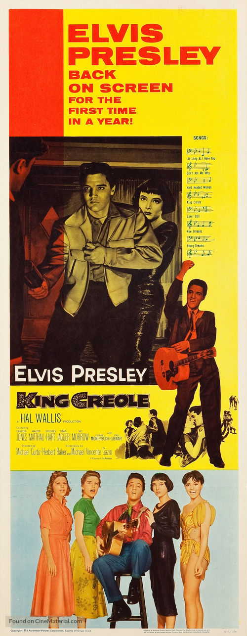 King Creole - Movie Poster
