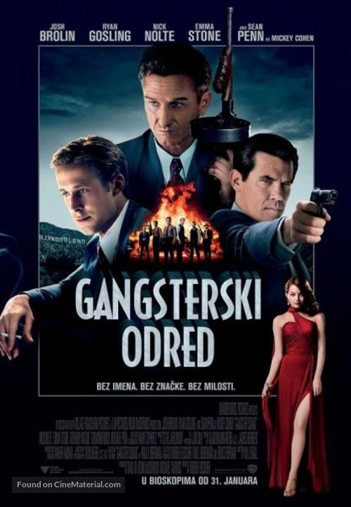 Gangster Squad - Serbian Movie Poster