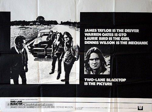 Two-Lane Blacktop - British Movie Poster