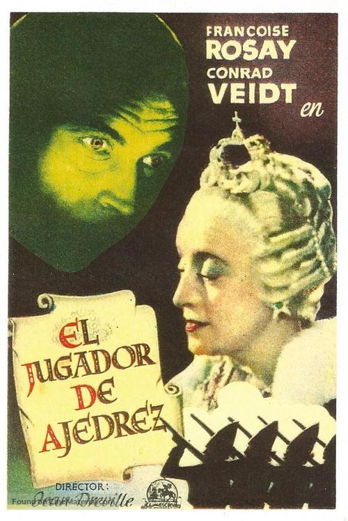 Le joueur d'échecs - Spanish Movie Poster