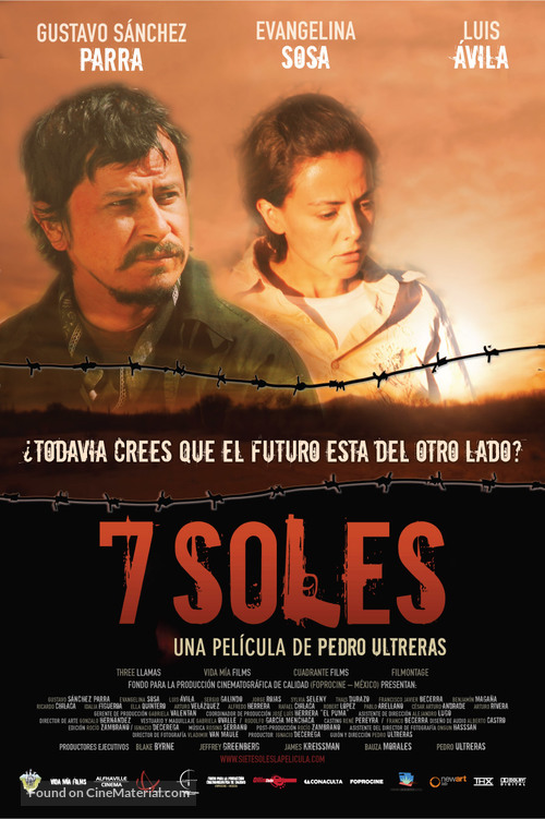 7 soles - Mexican Movie Poster
